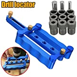 Self Centering Doweling Jig, Tulas 6/8/10mm Drill Set, Doweling Jig for Corner T-butt and Edge-to edge Connections Dowel Drilling Wood Drill Kit