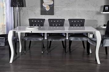 Lieblich Casa Padrino Barock Esstisch Hochglanz Weiß Mit Auszug 170/200/230cm    Esszimmer Tisch