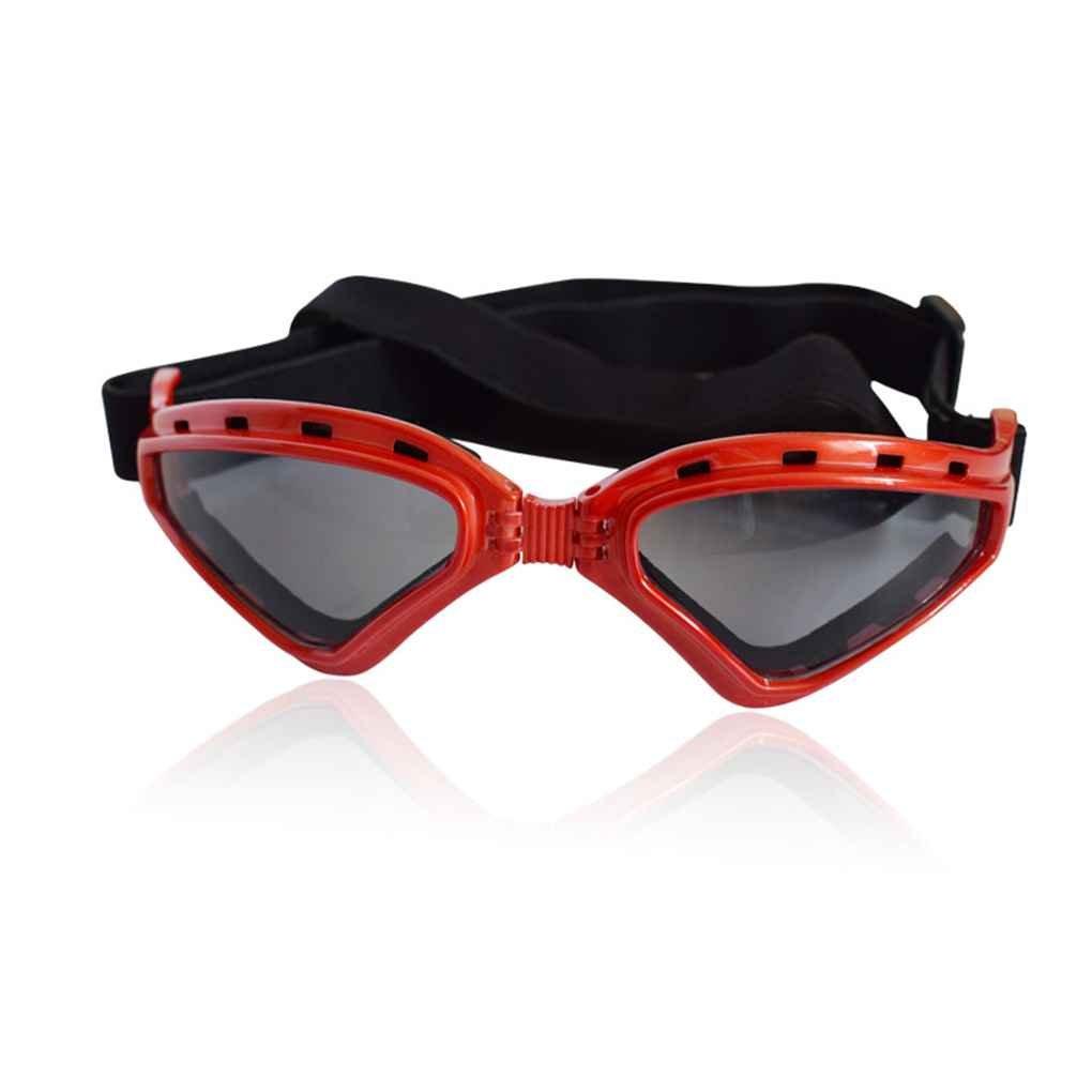 Meisijia Objectifs chien Lunettes de soleil protection UV Pliable Protection des yeux Porter AupXxrB