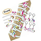 Nikkycozie Emoji Identification party unicorn wristband bracelets, rainbow unicorn birthday favors supplies