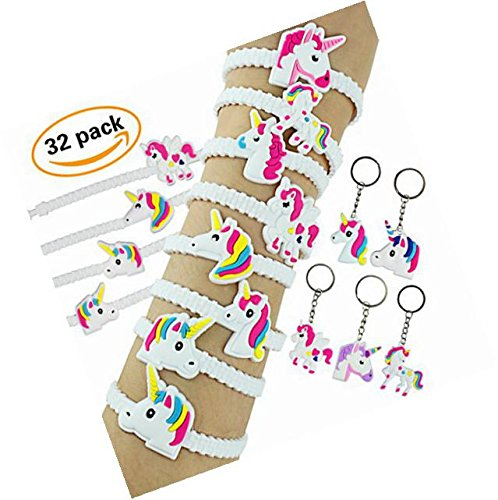Nikkycozie Emoji Identification party unicorn wristband bracelets, rainbow unicorn birthday favors supplies by Nikkycozie