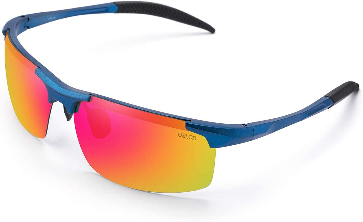 OSLOB Polarized Sports Sunglasses for Cycling Running Driving TR90 Sunglasses ST002