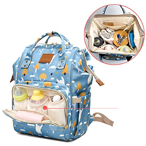 Function Print Travel with Foxes Dad Bag for Multi Print Nappy Backpack Large Baby Waterproof Capacity Foxes Baby Changing Design Mom Open Wide a1qPZ