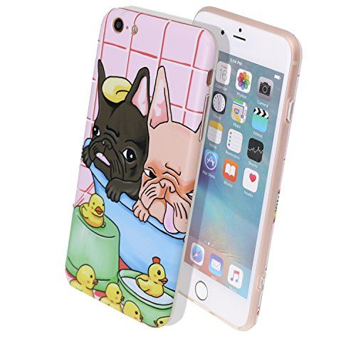 Arunners iPhone 6 Plus/6s Plus Case Cover Cartoon 5.5 inch French Bulldog Cute Kawayi with Multi-Use Strap - Black Yellow Bulldog (French Bulldog 6plus Case compare prices)