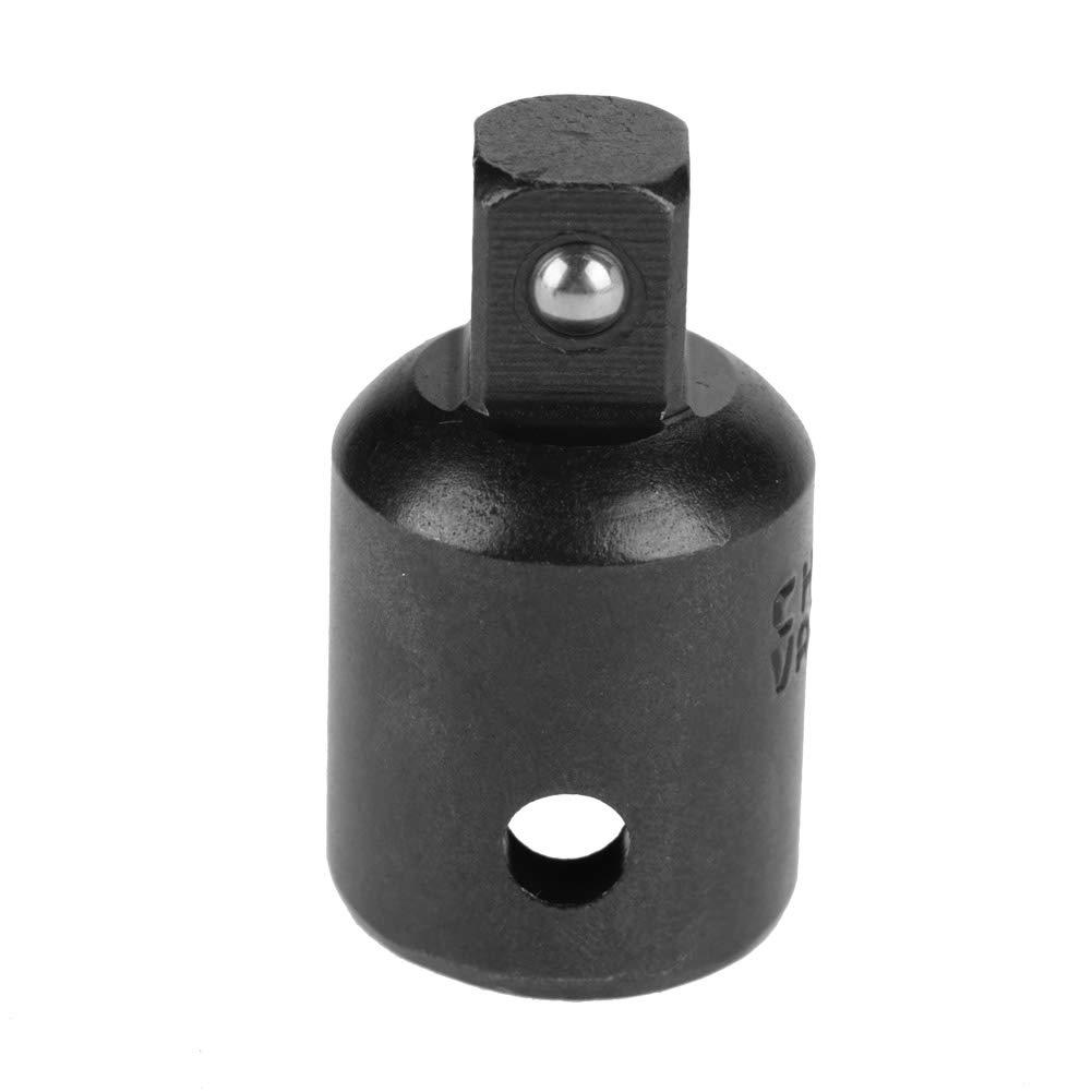 Reductor Soxket 4 piezas Reductores para adaptadores para enchufes de acero al cromo vanadio de 1//2 3//8 1//4Herramientas para llaves Adaptadores manuales el/éctricos CVR black