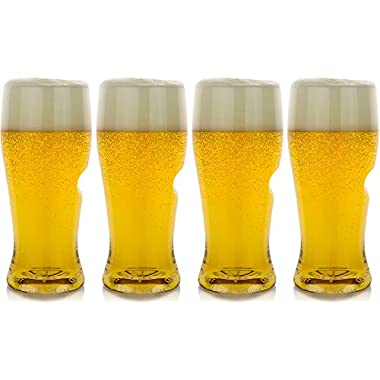 The govino Go Anywhere Classic Series Beer Glasses Flexible Shatterproof Recyclable, 16-ounce, Set of 4