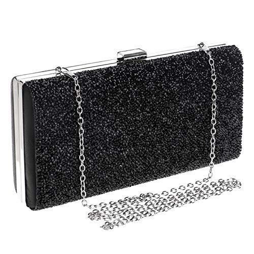 - Diamond evening bag,Women Square Unique clasp Clutch For Party Bridal Prom-black 22x11x5cm(9x4x2inch)