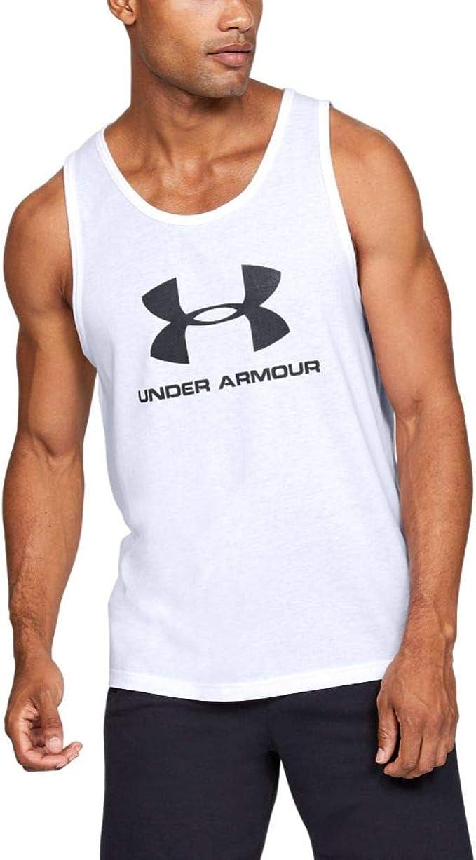 Under Armour Sportstyle Logo Tank Red Sporttop Tanktop Fitness Bodybuilding