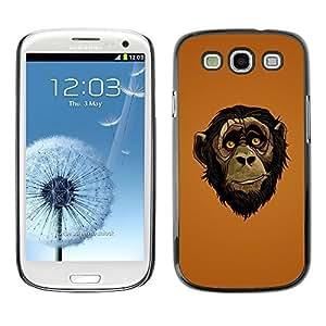 GagaDesign Phone Accessories: Hard Case Cover for Samsung Galaxy S3 - Friendly Ape Monkey Chimpanzee