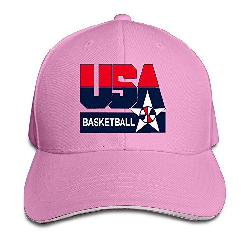 Price comparison product image Fitted 2016 Olympic USA Basketball Logo Snapback Hats Pink Sandwich Peaked Cap