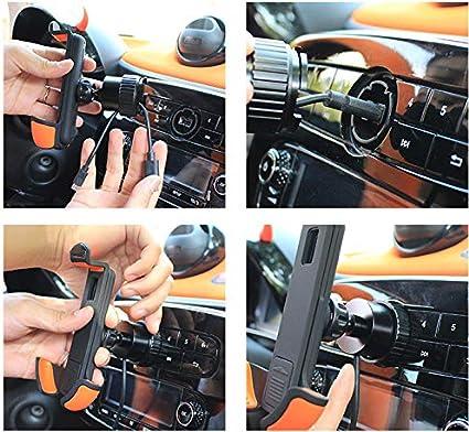 Longsuodi Auto Handyhalterung 360 Grad Umdrehung Handyhalter Auto Navigation Ladeunterstützung Für Smart 453 Modell Forfour Fortwo Anwendbar Für 3 5 6 3 Zoll Handy A Küche Haushalt