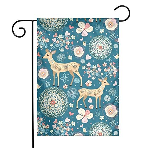 """YXHom The Design of The Deer 1218"""" House Garden Flag Mailbox Festival Home Decorative Welcome Banner Custom Family Outdoor Decor"""