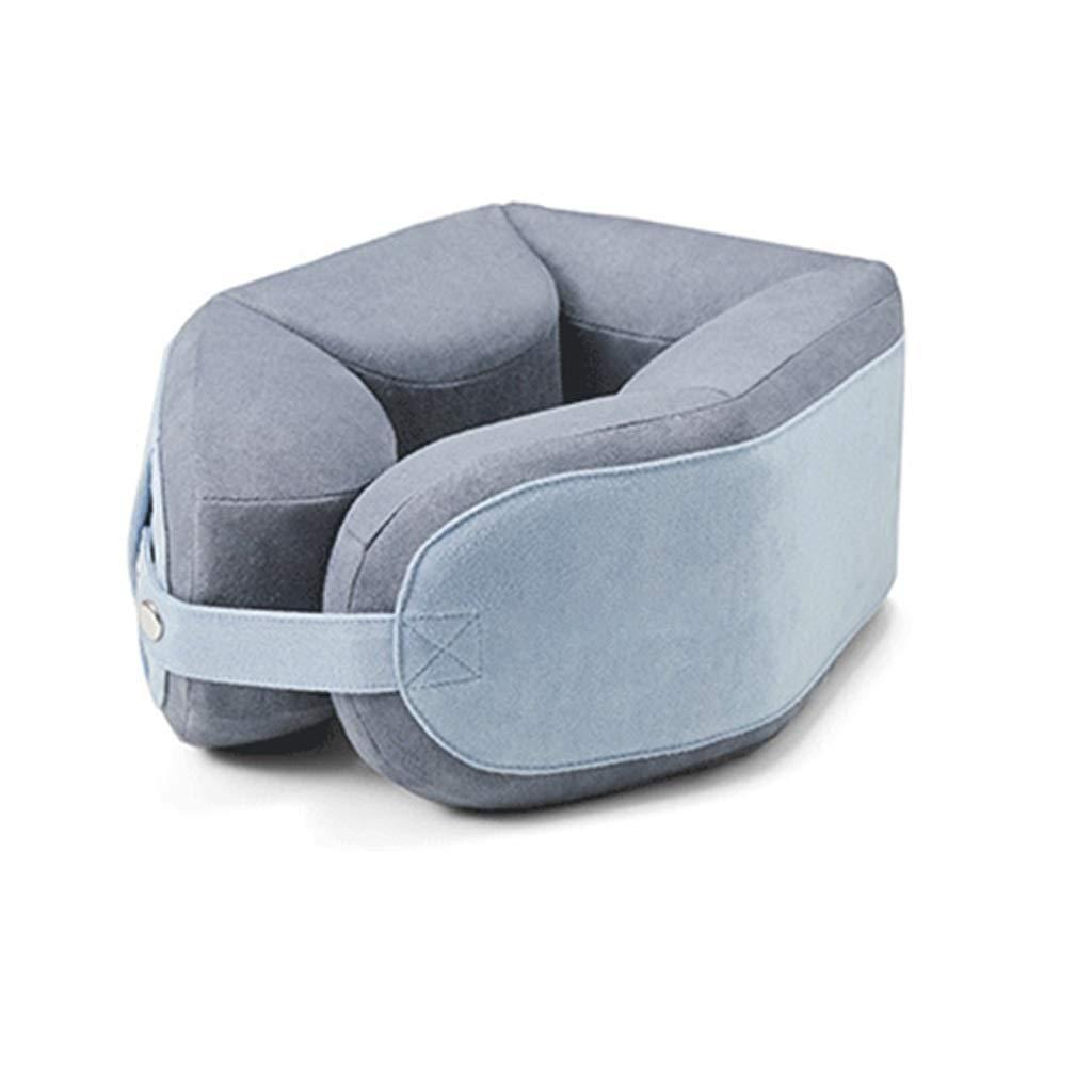 首、あご、腰部および足サポートのための旅行枕U字型の枕折りたたみ枕 - 飛行機、バス、電車または家で旅行のため B07RHSP74S