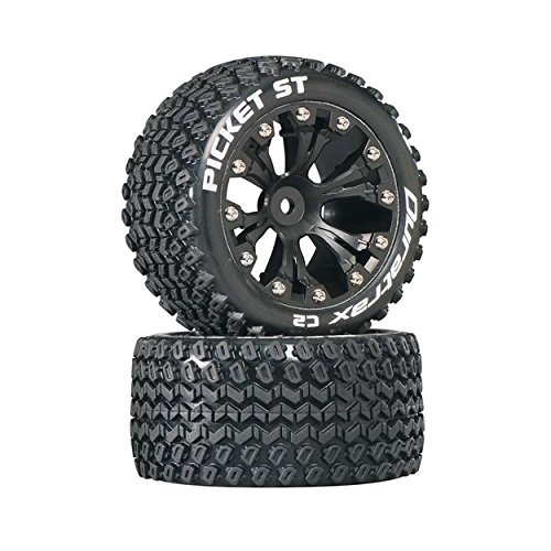 (Duratrax DTXC3548 Picket RC Staduim Truck Tires with Foam Inserts, C2 Soft Compound, ST 2.8