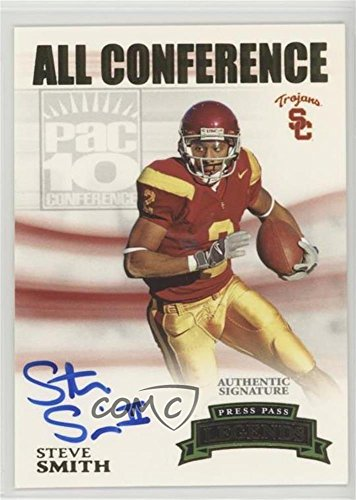 - Steve Smith #/400 (Football Card) 2007 Press Pass Legends - All Conference Autographs - Gold #AC-SS