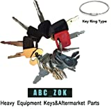 Construction Ignition Key sets - sets of 7, 10, 16, 21, 24 for backhoes, tools, case, cat,hitachi
