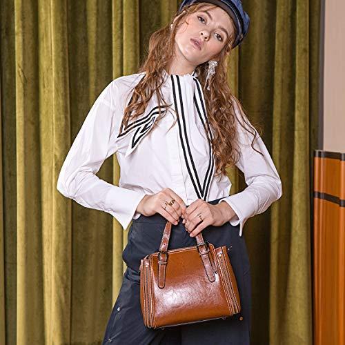 Donna Borsa Stile Brown Messenger Nuovo Borse Borsetta Shirley Pacchetto red 2019 S Moda A Tracolla nwACq8a0n