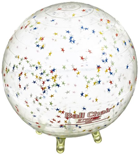 Gymnic Sit'N'Gym Therapy Ball with Built in Legs, 13-1/2 Inches, Clear with Stars by Abilitations