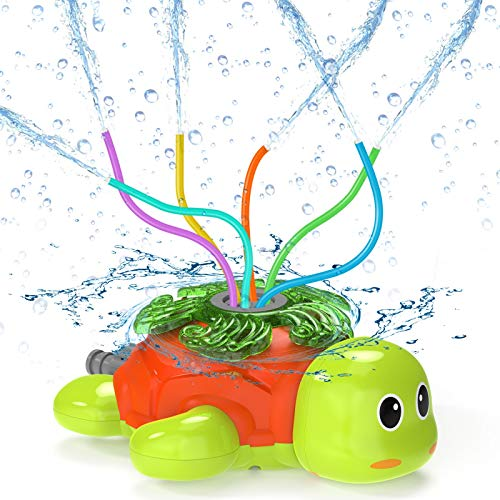 Kiztoys Water Sprinkler For Kids Outdoor Play- Outdoor Toys Water Sprinklers, Turtle Sprinkler For Kids, Fun Yard Kids Toy Sprinkler Outdoor, Sprinkler Toddler Outdoor Toys For Lawn, for Fun Summer