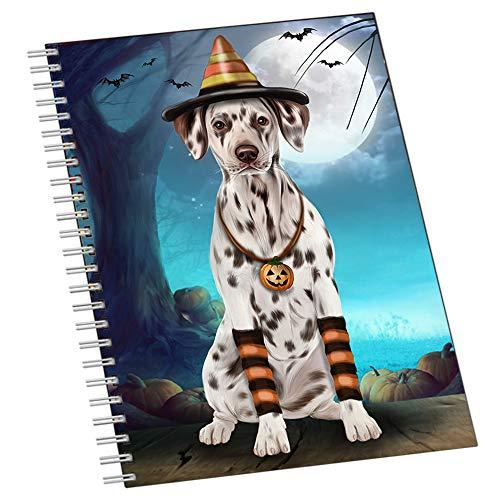 Happy Halloween Trick or Treat Dalmatian Dog Candy Corn Notebook NTB51506