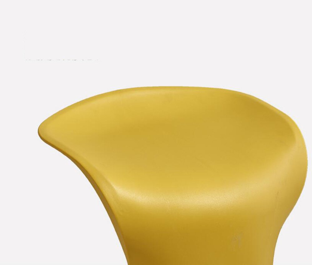 Simple leisure bar chair, one molding, solid and beautiful, multi-color optional ( Color : Black ) by Xin-stool