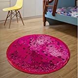 HOMEE Circular Mats Seat Headrest Cushion the Nacelle Loungers round Implementation round Gasket,Dragon Fruit,120120Cm