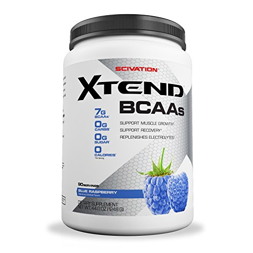 Scivation Xtend BCAA Powder, Branched Chain Amino Acids, BCAAs, Blue Raspberry, 90 Servings
