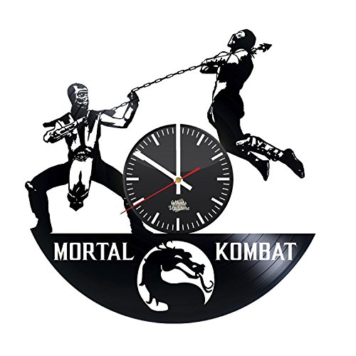 Mortal Kombat 3 Scorpion Costume (Mortal Kombat Design Vinyl Record Wall Clock - Wonderful bedroom or bathroom wall art decoration - Fancy gift idea for his or her)