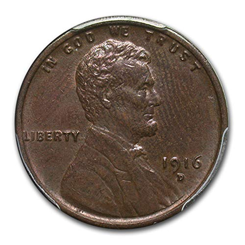 1916 D Lincoln Cent MS-63 PCGS (Brown) Copper MS-63 PCGS