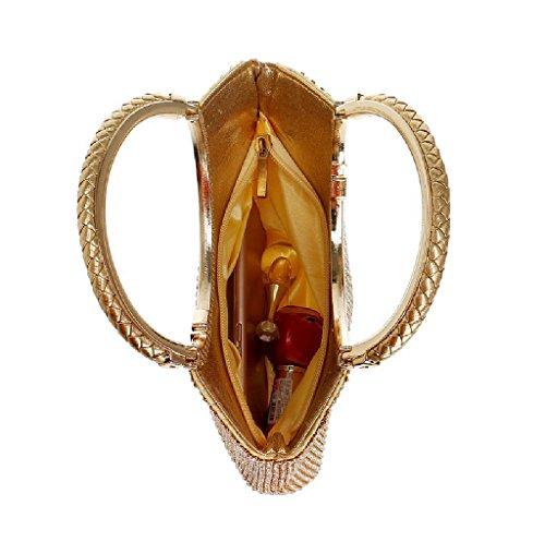 l'épaule porter à BESTWALED Or doré YHB416 femme à pour 1 Doré Sac q7w1fxI1OY
