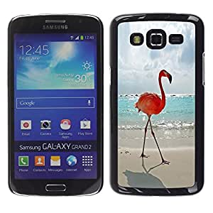 Be Good Phone Accessory // Dura Cáscara cubierta Protectora Caso Carcasa Funda de Protección para Samsung Galaxy Grand 2 SM-G7102 SM-G7105 // flamingo summer Miami sun sea beach