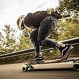 "P.LOTOR 46"" x 11"" Skateboard Grip Tape, Bubble Free Waterproof Black Anti Slip Griptape for Gun, Scooter, Longboard, Stairs, Non Slip Grips, Anti Skid Adhesive Tape"
