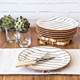 Better Homes and Gardens Sabin Striped Dinner Plate, Set of 6