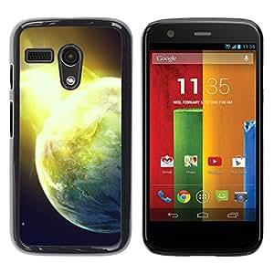 YiPhone /// Prima de resorte delgada de la cubierta del caso de Shell Armor - Shining Planet - Motorola Moto G 1 1ST Gen I X1032