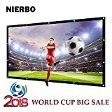 Outdoor Movie Screen Home Theater Portable Projector Screen Indoor Presentation Platform 84inch 16:9 Suitable for HDTV/Sports/Film/Presentations