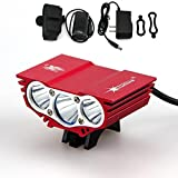 Best GrandSiri Rechargable Bike Lights - Illustrious 4 Switch Modes 6000Lm 3x LED Bike Review