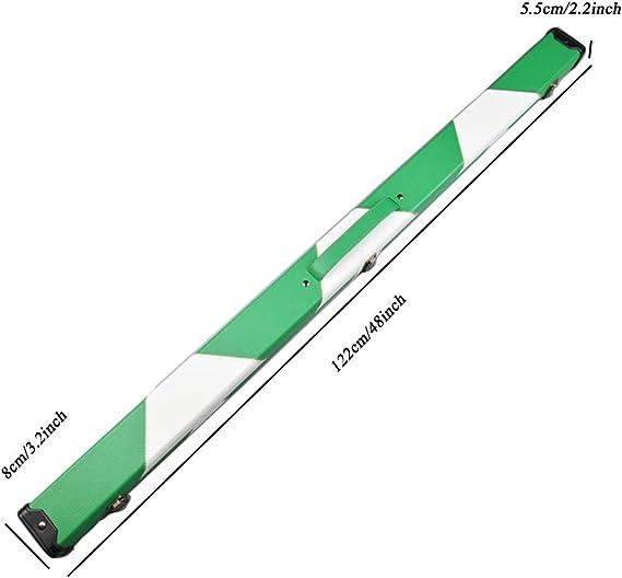 LWXTY Caso Billar Cue, Moda 3/4 articulado Cue Case con el Compartimiento de Tiza, fácil de Transportar, para Billar Taco de Billar, Tiene 1 Cue,C_122cm/48inch: Amazon.es: Hogar