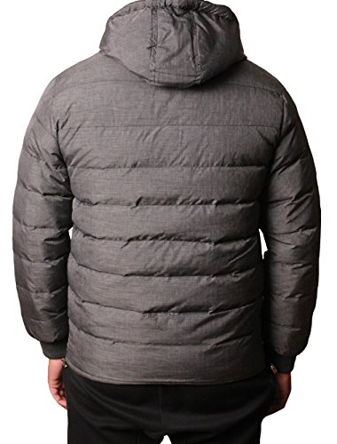 Puffer project Mens Lt Grey Jacket Hooded Coat Warm D Padded Winter Bubble Marl YBwqwT