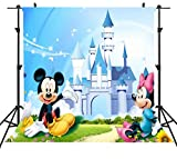 ST 6X6FT Children Ultra Violet Disney Photography Backdrop Lovely Donald Duck and Mickey Mouse Background for Family Party Backdrop or YOUTUBE Background Props ST660226