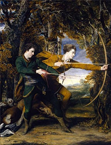 [Oil Painting 'Sir Joshua Reynolds - Colonel Acland, Lord Sydney- The Archers,1769-1770' 10 x 13 inch / 25 x 33 cm , on High Definition HD canvas prints, Home Office, Home Theater, Powder Room decor] (Rugged Texas Star Knob)