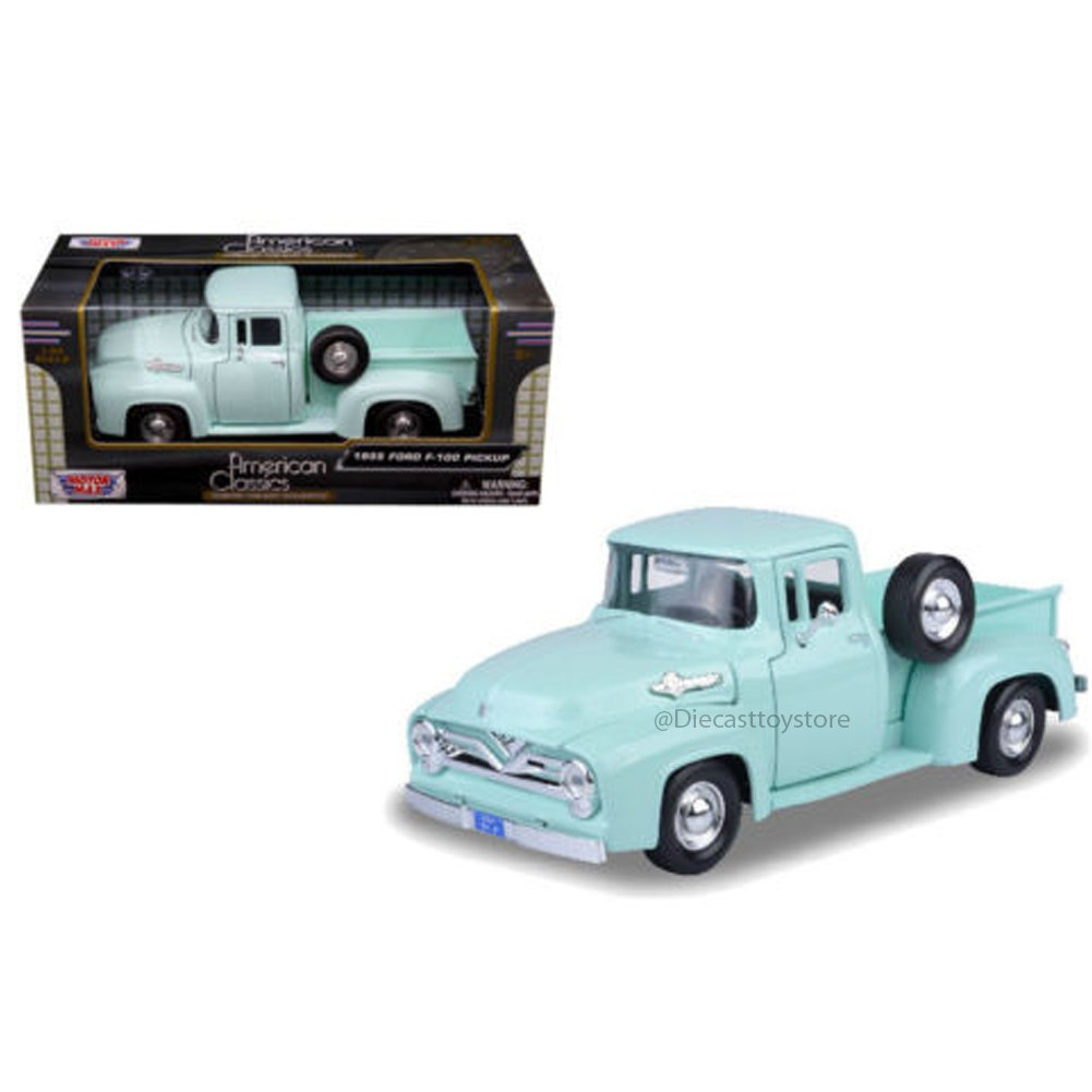 Motor Max 124 W B American Classics 1955 Ford F100 Pick Side View Up Diecast Truck Toys Games