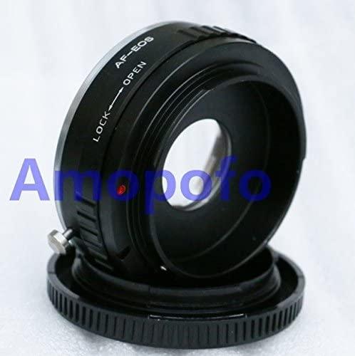 Amopofo Sony Alpha Minolta AF Lens to Canon EOS EF Optical Adapter Infinity Glass 5D 7D