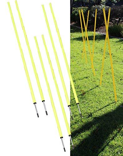 Bluedot Trading Soccer Agility Training Poles, Fixed or Adjustable (4,6,8pc-set)
