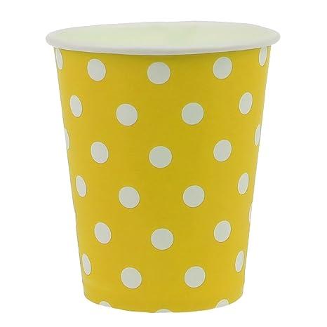 Vasos desechables 250 ml para bebidas frías y bebidas calientes de cartón