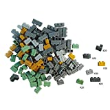 SPRITE WORLD 140 Pieces Brick Wall Blocks Compatible for Major Brand Parts Walls Building Toy for Balcony Rampart House Children Gifts