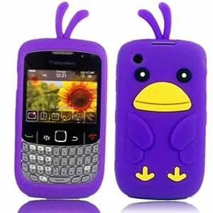 Chicken Silicona Cubrir Caso Piel Para Blackberry Curve 8520 3G 9300 / Purple