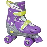 Chicago Skates Girls' Adjustable Quad Skates Size: 1-4 Adjustable Purple/Silver