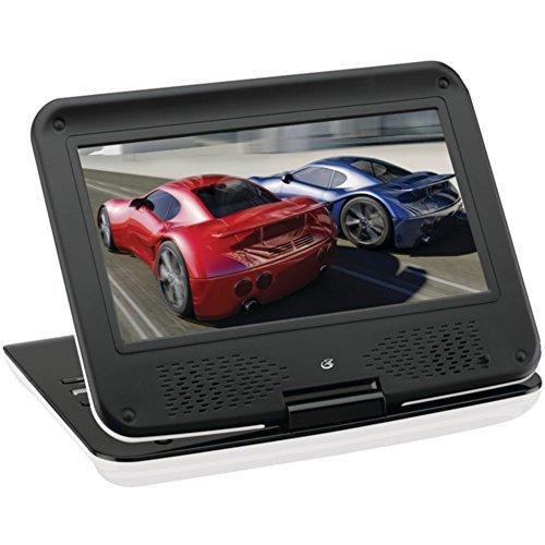 GPX PD901W 9 Portable DVD Player W/Folding Swivel Screen Con
