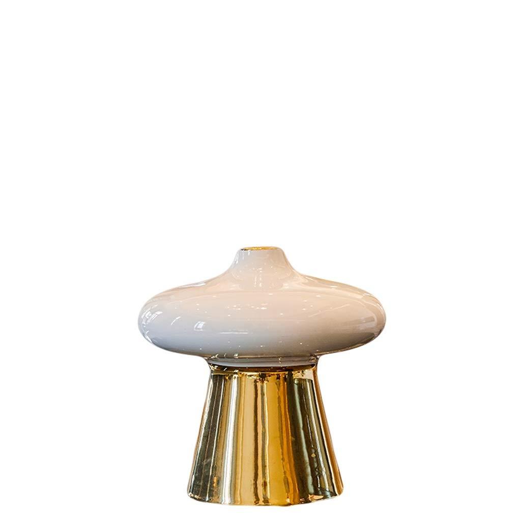 LIULIJUN 花瓶新しい中国風のリビングルームのフラワーアレンジメントセラミック花瓶乾燥フラワーデコレーションモデルルームテレビキャビネットテーブルホテルホームデコレーション (Size : S) B07T6DTT3S  Small