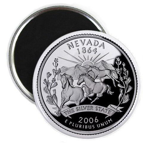 Nevada State Quarter Mint Image 2.25 inch Fridge Magnet